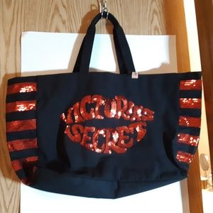 Victoria Secret Large Sequined Tote NWT
